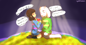 +Doodle/AU/Fan art+ Sharing my life with you by Crystaliiisms
