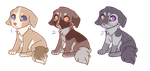 Puppy Adoptables CLOSED by t-arah