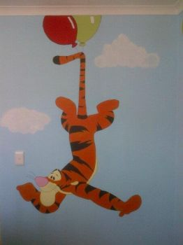 Winnie The Pooh Mural by Dyly