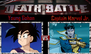 Young Gohan vs Captain Marvel Jr. by SonicPal