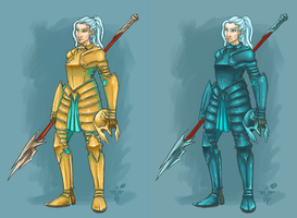 Character Design: Knight in Plate Armour by smokewithoutmirrors