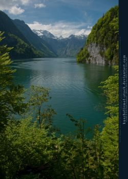 Alpine Lake from above - Mountains 01 by kuschelirmel-stock
