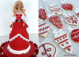 Xmas Doll Cake by Verusca