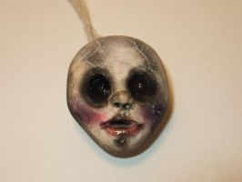 Creepy Doll Necklace by NamelessCreativity