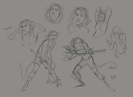 Jacky Sketches by GreekCeltic