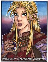 Amethyst Elf  Half Size Original l 4 sale on Etsy by lady-cybercat
