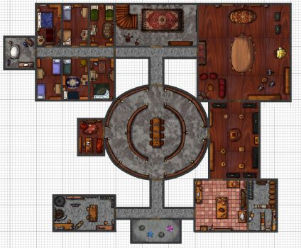 Underground: Miskatonic secret basement map UPDATE by shafry