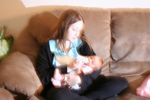 Baby Girl Chloe and my wife by 44anarchy44