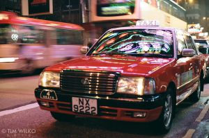 Hong Kong Taxi by Tim-Wilko
