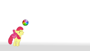 Apple Bloom Beach Ball WP by postcrusade