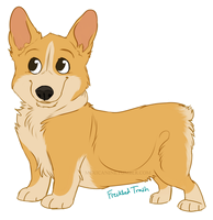 corgi  [dollar dog commissions] by mexicanine