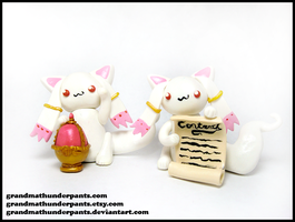 Lucky Kyubey Figures by GrandmaThunderpants