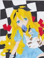 Alice in wonderland by Hinamai-chan