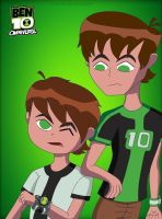 Omniverse: Teen Ben and Kid Ben by TohruOnigriHonda865