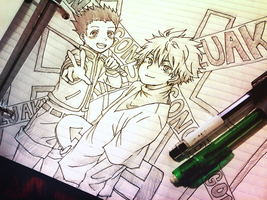 Gon and Killua by Andressina