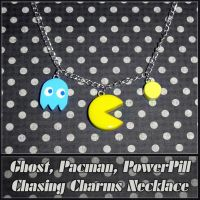 Pacman Ghost Powerpill Charms by YellerCrakka