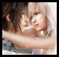 Noctis and Lightning by hakurama01