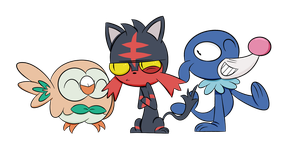 Pokemon Moon and Sun Starters