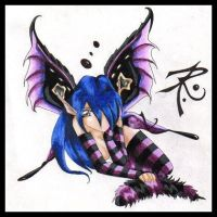 Violet Butterfly--Caterpillar by sinister-puppet