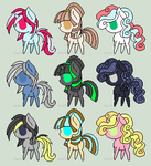 Pony Adopts .:5 Points Each:. .:2/9 OPEN:. by Burloro