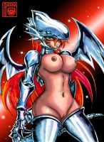 Blue eyes white dragon girl by Zentagas-Rex