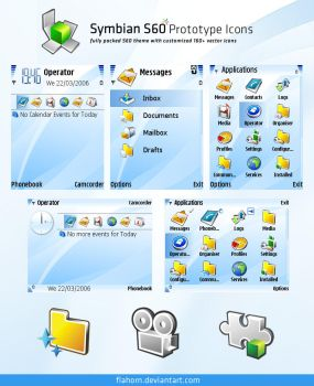 Symbian S60 Prototype Theme by evasketch