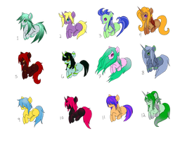 25 point Ponies CLOSED by April-Cakes
