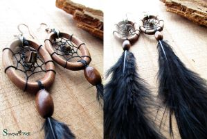 Dreamcatcher earrings by SuvetarsWell