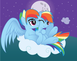 Rainbow Dash X Rainbow Blitz by drawponies