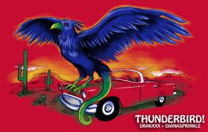 Thunderbird on a Thunderbird by amegoddess