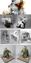Monster Sculptures by TacosaurusRex