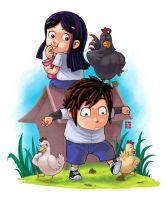 Kelana and His Pets by KeMot