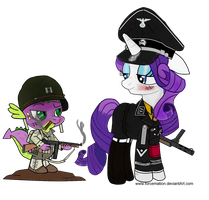 SS Haupsturmfuhrer Rarity and Captain Spike by fORCEMATION