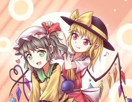 Koishi and Flandre 2 by tauminust