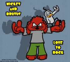 Wicket And Brutus Love To Rock by chelano