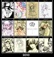 2010 Summary of my ArtWorks by xxxsai