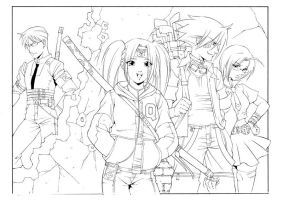 Ninja High Schoolers by Dhutchison