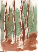 watercolor trees by Rahona