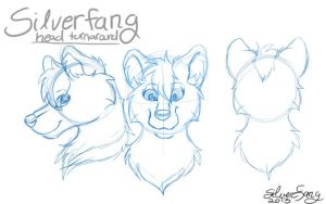 Silverfang Head Turnaround by Silverfang98