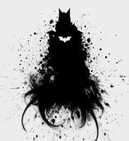 batman the dark knight ink splatter by diego1a