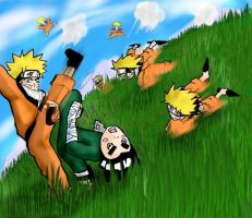 NARUTO VS LEE,contest sumition by onimushawn