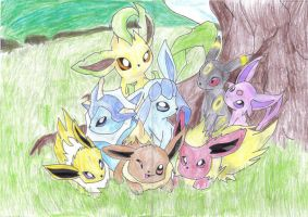 Pokemon Eeveelutions Cute by jackstar93