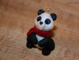 panda bear christmas ornament by AmandaKathryn