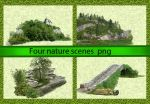 Four nature scenes by roula33