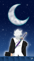 Toshiro moonlight by SilverDrawing88