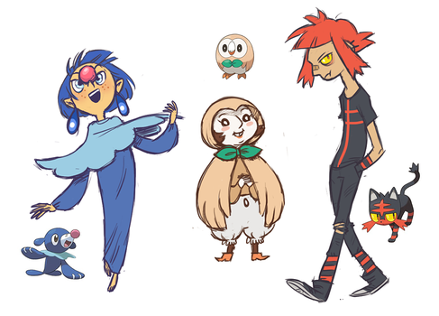 New Starter Gijinkas by french-teapot