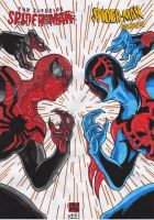 The Superior Spider-man vs Spider-man 2099 (co by GabRed-Hat