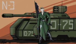 A Girl and Her Tank by Silver-DT