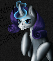 Why Do You Survive, Rarity? (Animated) by AgentesinRebus