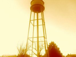 Water Tower Sepia by SoundsLikeABadIdea